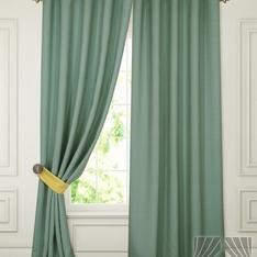 Комплект штор Тиаго (зеленый) Портьера 2 шт. — 150х280 см.