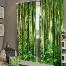 Фотоштора Бамбуковые джунгли Портьера 150х260 см. — 2 шт.