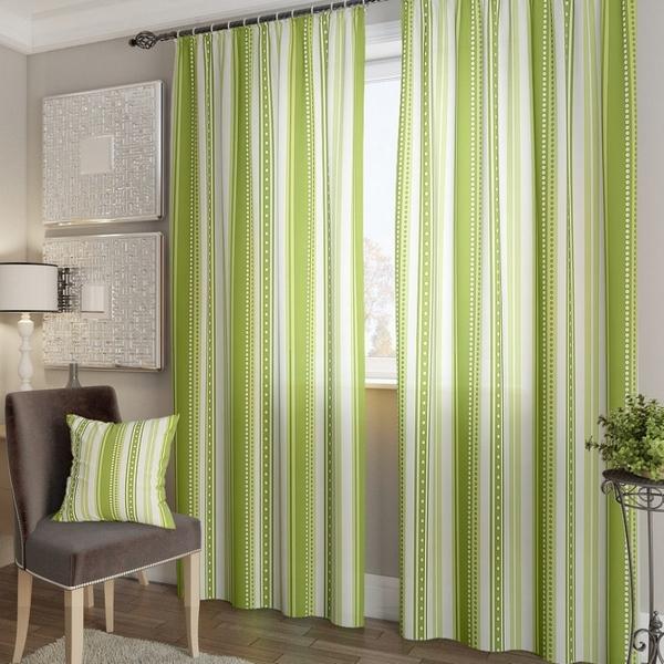 Комплект штор Девон-К (зеленый) Портьера 150х260 см. — 2 шт.
