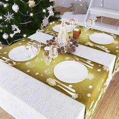 Дорожка на стол 140x40, Габардин, Новый год