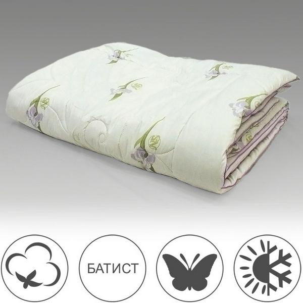 Одеяло шёлк в хлопке 200х220, всесезонное, Радужный Ирис