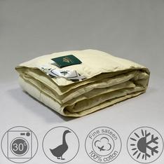 Одеяло 200х220 всесезонное из серого гусиного пуха 1 категории кассетное, Медовый поцелуй