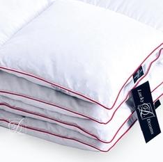 Одеяло 140х205 тёплое из пуха экстра серого сибирского гуся кассетное, Desire