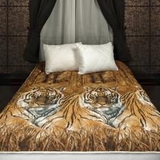 Комплект из одеяла-покрывала и стеганой подушки Уссурийские тигры