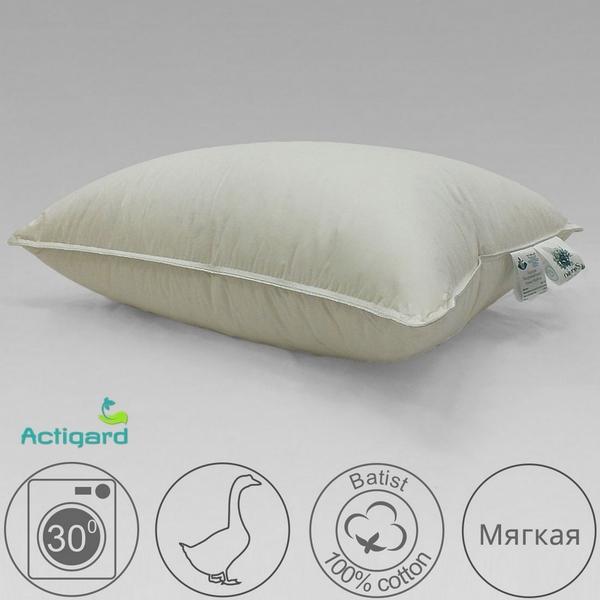 Подушка 50х68 мягкая из белого гусиного пуха экстра, Воздушный вальс